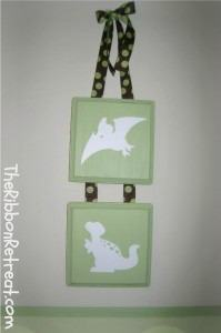 Dinosaur Squares - {The Ribbon Retreat Blog}