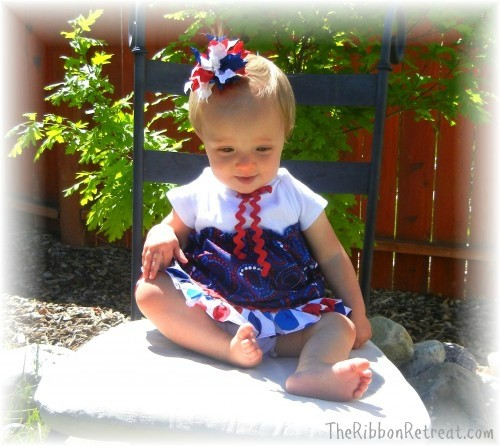 Double Ruffle Firecracker Bow - {The Ribbon Retreat Blog}