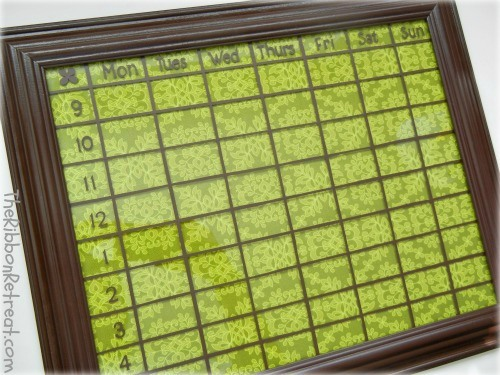 Dry Erase Calendar - {The Ribbon Retreat Blog}