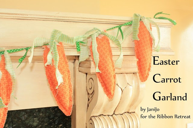 Easter Carrot Garland - The Ribbon Retreat Blog
