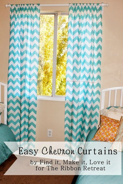 Easy Chevron Curtains - The Ribbon Retreat Blog