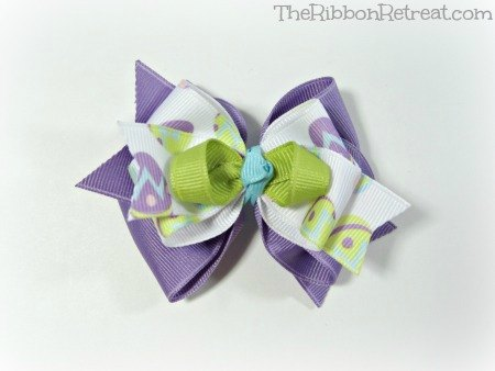 Egg Hunt Bow - {The Ribbon Retreat Blog}