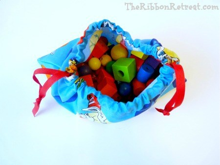 Fabric Drawstring Bag - {The Ribbon Retreat Blog}