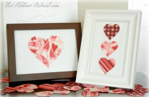 Fabric Heart Decor - {The Ribbon Retreat Blog}