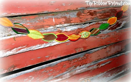 Fabric Leaf Garland - {The Ribbon Retreat Blog}
