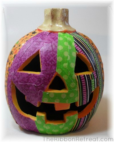Fabric Mod Podge Pumpkins - {The Ribbon Retreat Blog}