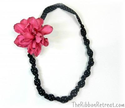 Fabric Necklace & Burnt Wired Ribbon Flower - {The Ribbon Retreat Blog}