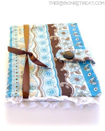 Fabric Notebook Cover - {The Ribbon Retreat Blog}