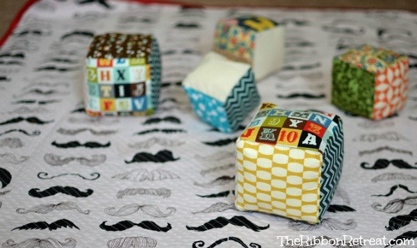 Fabric Play Cubes - The Ribbon Retreat Blog