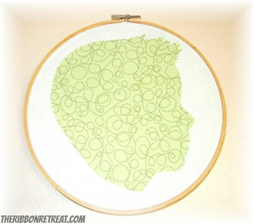 Fabric Silhouette Tutorial - {The Ribbon Retreat Blog}