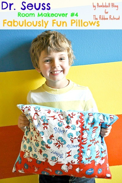 Dr. Seuss Room Makeover #4, Fabulously Fun Pillows - The Ribbon Retreat Blog