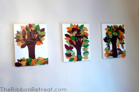 Fall Handprint Tree Craft - {The Ribbon Retreat Blog}