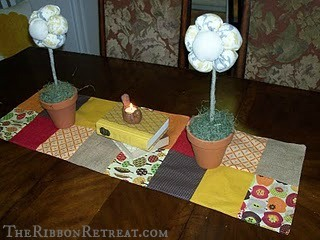Fall Table Runner - {The Ribbon Retreat Blog}