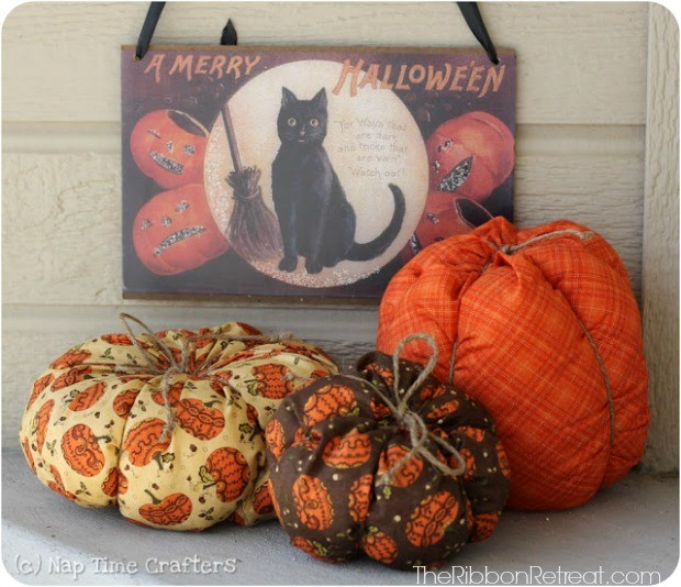 Fat Quarter Pumpkins - The Ribbon Retreat Blog