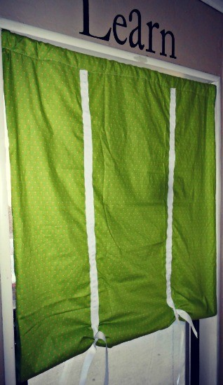 Create one of a kind Faux Roman Shades perfect for your windows.