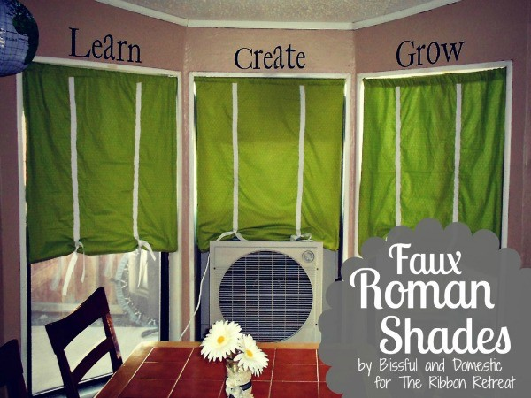 Liven up your windows with faux roman shades, using fabric that you love!