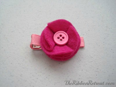 Felt Circles Flower - {The Ribbon Retreat Blog}