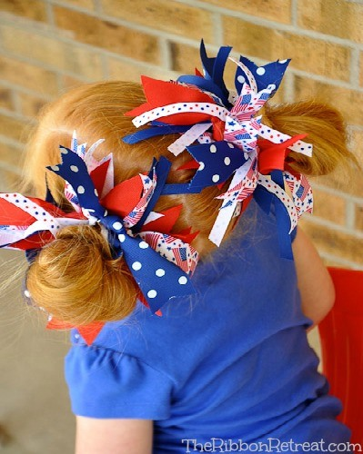 Firecracker Bows - The Ribbon Retreat Blog