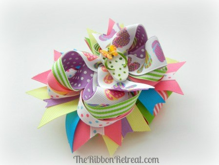 Flip Flop Bow - How to attach a French Barrette - {The Ribbon Retreat Blog}