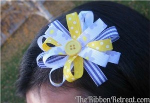 Flower Loop Bow - {The Ribbon Retreat Blog}