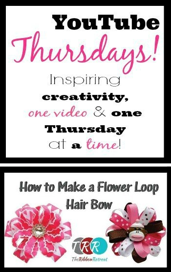 Flower Loop Hair Bow, YouTube Thursdays! - The Ribbon Retreat Blog