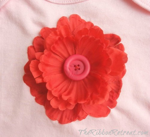 Flower Onesie - {The Ribbon Retreat Blog}