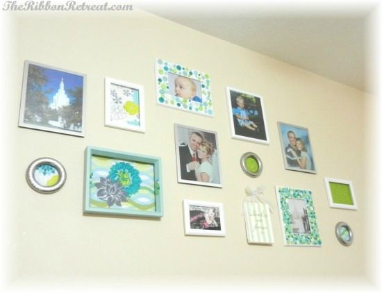 Framed Fabric & How to Make a Wall Collage - {The Ribbon Retreat Blog}