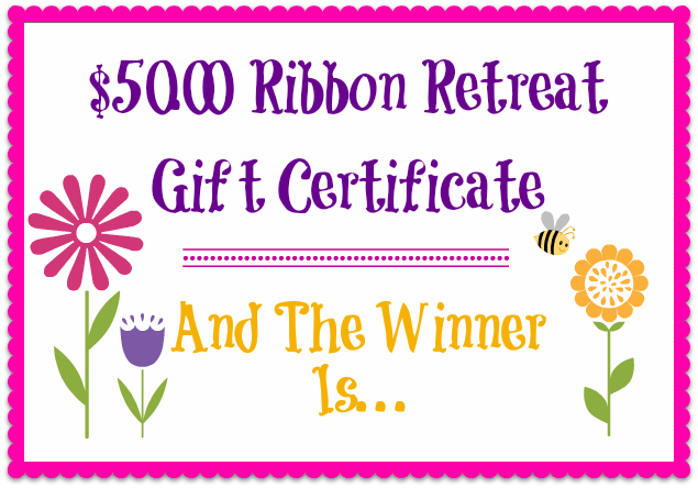 And The Winner Is - The Ribbon Retreat Blog