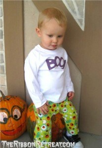 Halloween Pants and Shirt - {The Ribbon Retreat Blog}