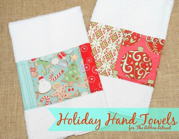 Holiday Hand Towels - The Ribbon Retreat Blog