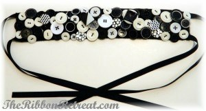How To Make A Button Headband - {The Ribbon Retreat Blog}