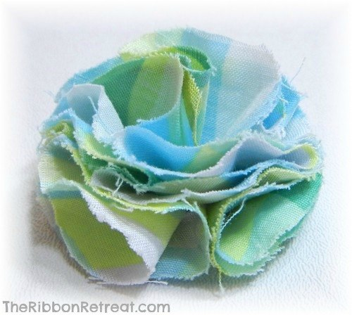 How To Make A Fabric Flower Version 2 - {The Ribbon Retreat Blog}