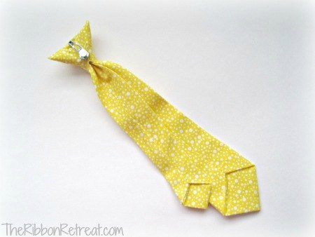 How To Make A Neck Tie - {The Ribbon Retreat Blog}