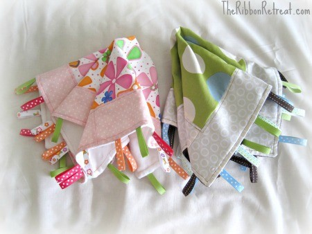 How To Make A Tag Blanket - {The Ribbon Retreat Blog}