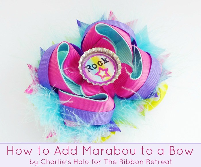 Learn how to make adorable bows with marabou!