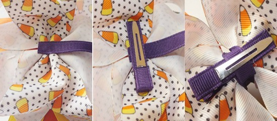 How to Make Bows: How to attach a clip to a bow  {The Ribbon Retreat Blog}