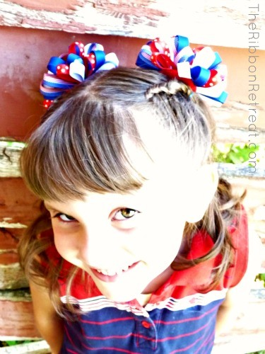 Loopy Puff Bows make the girls smile!