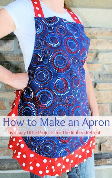 Learn how to make a cute apron with a ruffle edge.
