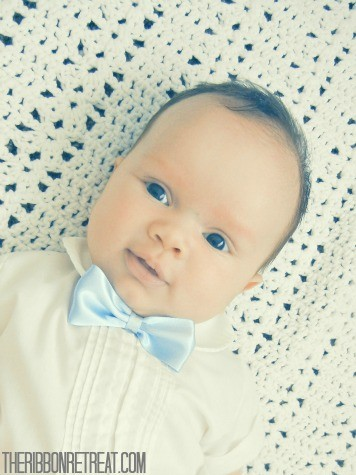Infant Bow Tie Update - {The Ribbon Retreat Blog}