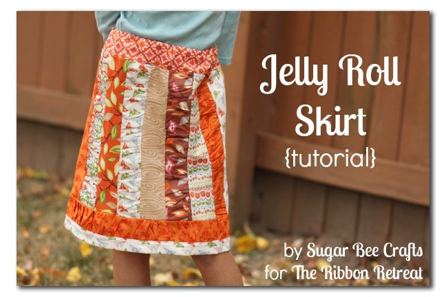 Learn how to use a Jelly Roll to make an adorable skirt!