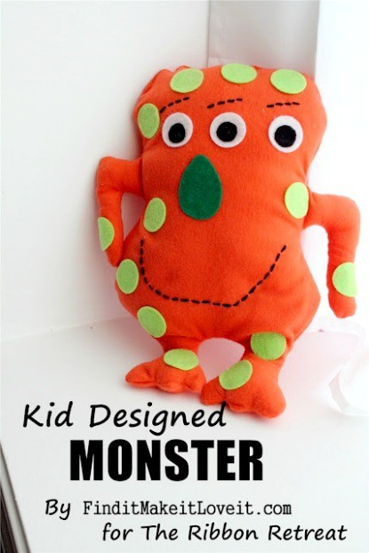 Kid Designed Monster Tutorial - The Ribbon Retreat Blog