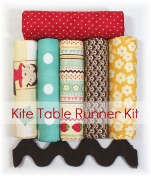 Kit with everything you need to make a cute Kite Table Runner