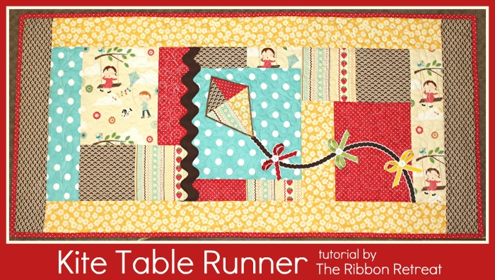 Make this super cute kite table runner with step by step instructions from The Ribbon Retreat.