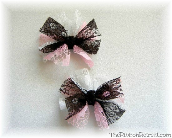 Lace Bows - {The Ribbon Retreat Blog}
