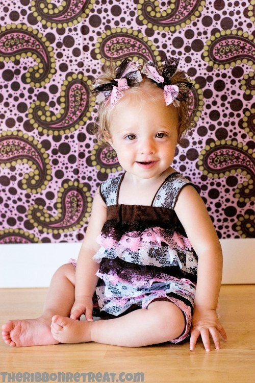 Lace Petti Romper - {The Ribbon Retreat Blog}
