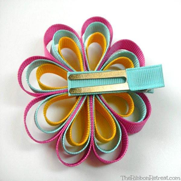 Loopy Ribbon Flower - The Ribbon Retreat Blog