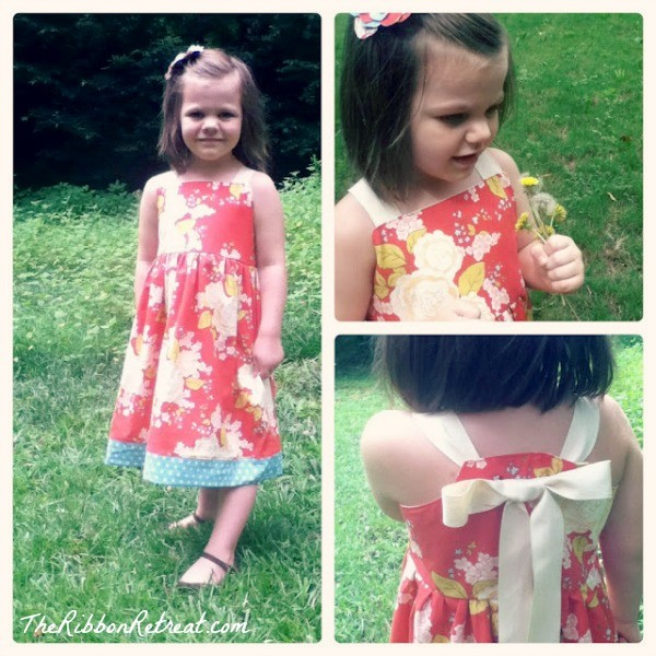 Sweet dress that is easy to make and unique in style.