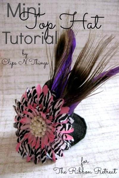 Mini Top Hat Tutorial - The Ribbon Retreat Blog