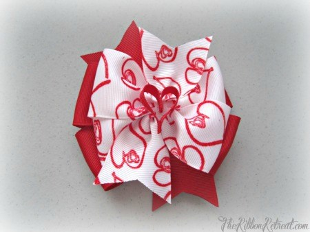 My Heart Bow - {The Ribbon Retreat Blog}