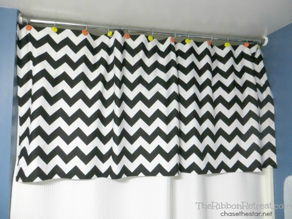 No Sew Shower Curtain Valance
